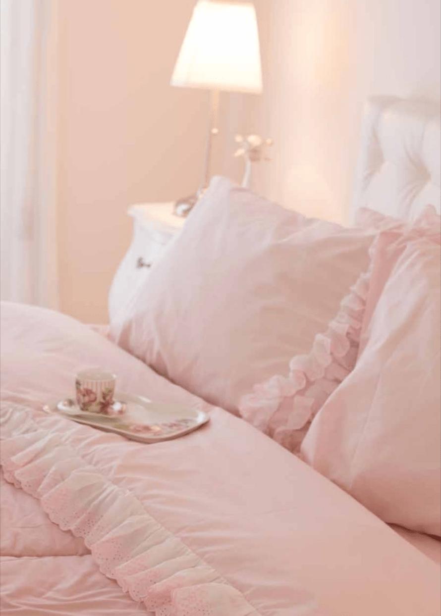 Completo Letto 2 Piazze Nicole Colore Rosa Cipria Casa Dolce Casa San Marino Biancheria Per La Casa E Corredi